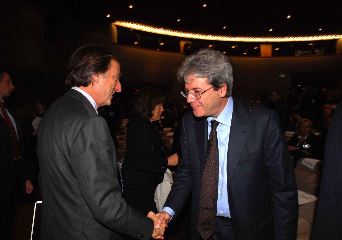 Luca Cordero di Montezemolo e Paolo Gentiloni