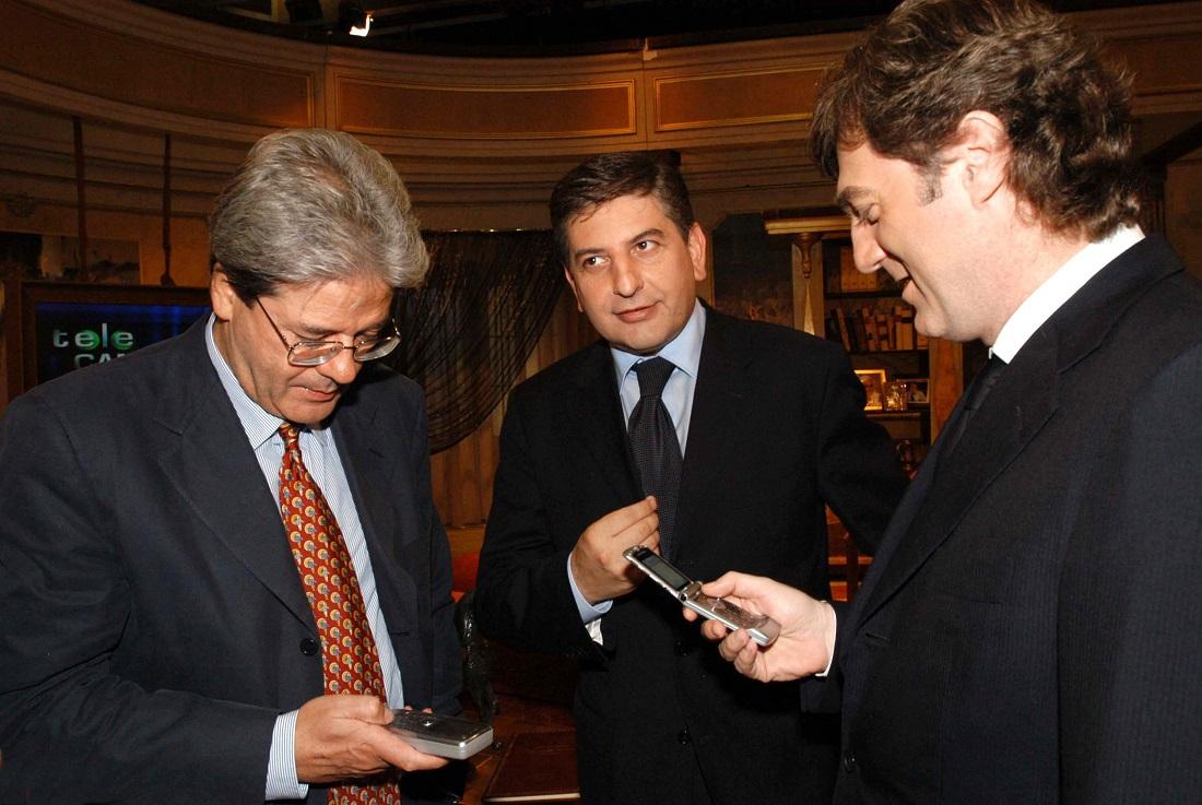 Paolo Gentiloni, Mario Landolfi e Flavio Cattaneo