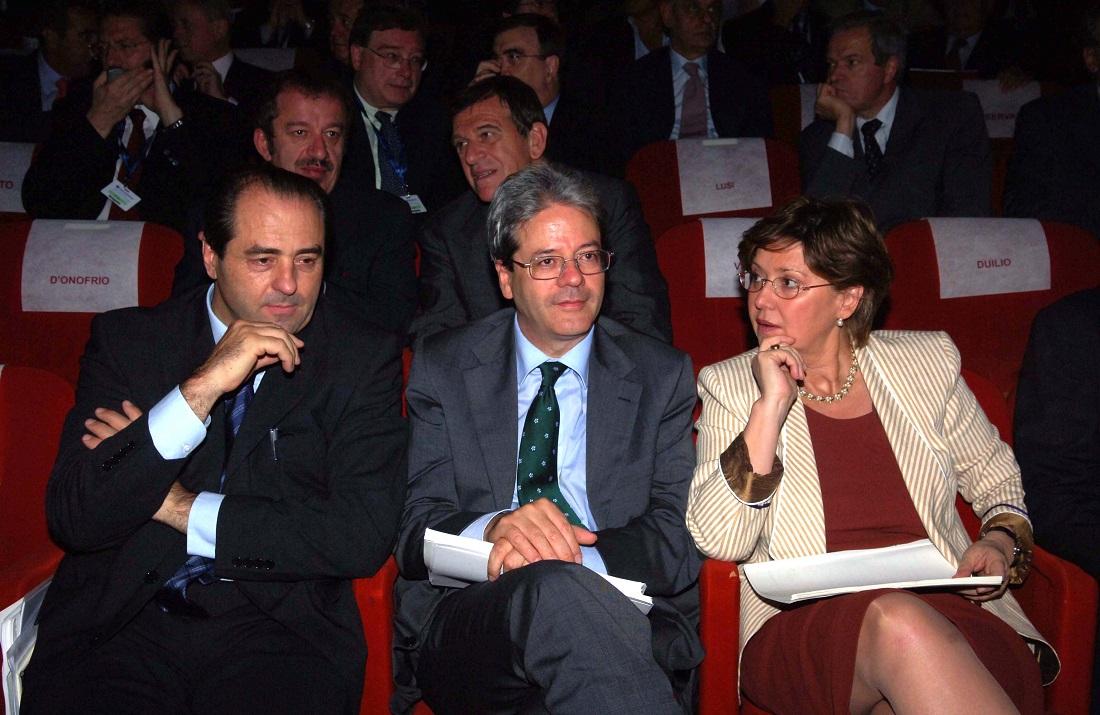 Antonio Di Pietro e Paolo Gentiloni