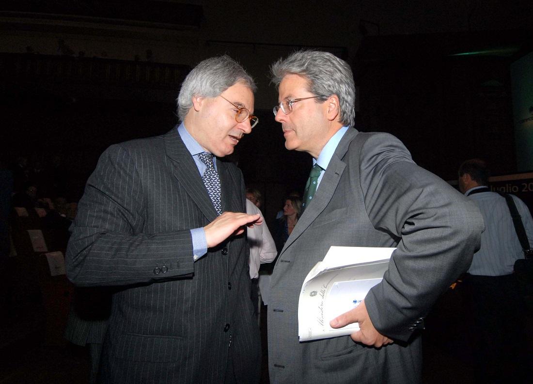 Maurizio Beretta e Paolo Gentiloni