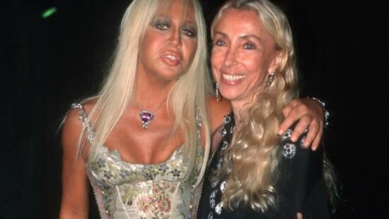 Donatella Versace e Franca Sozzani - 2002