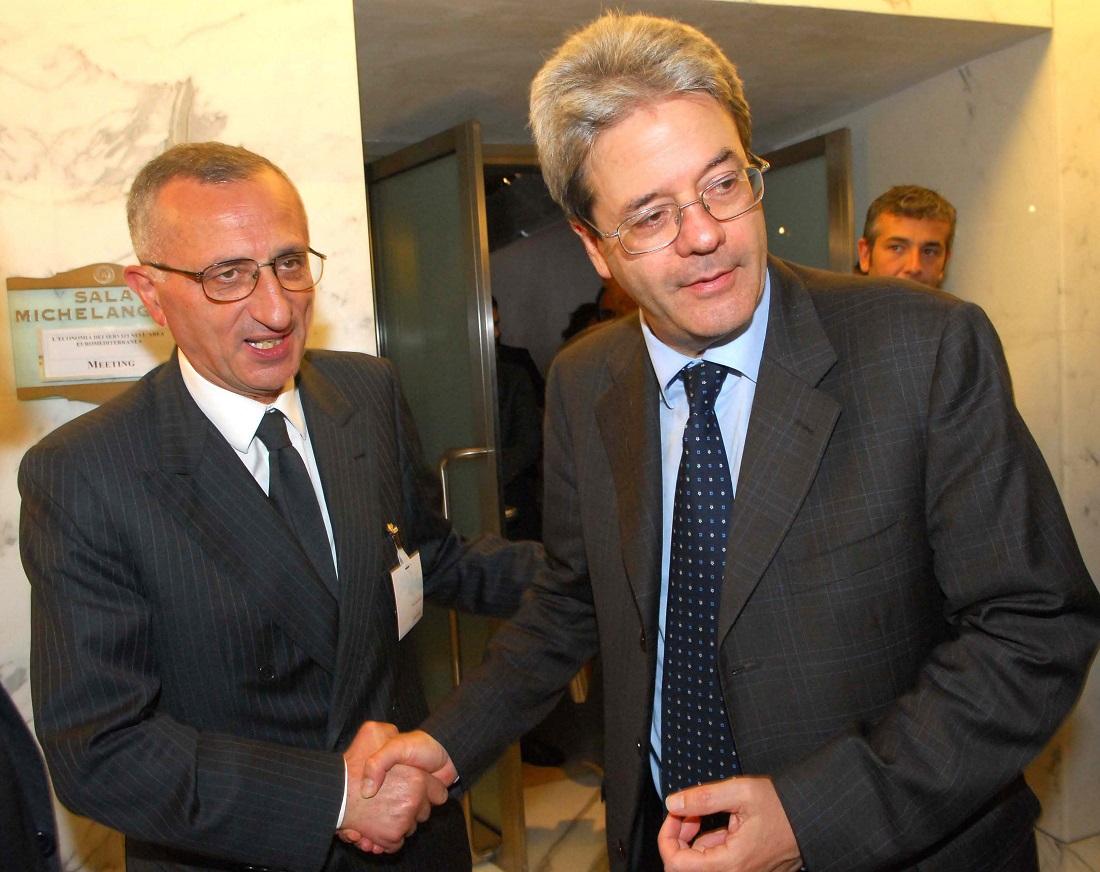 Vito Gamberale e Paolo Gentiloni
