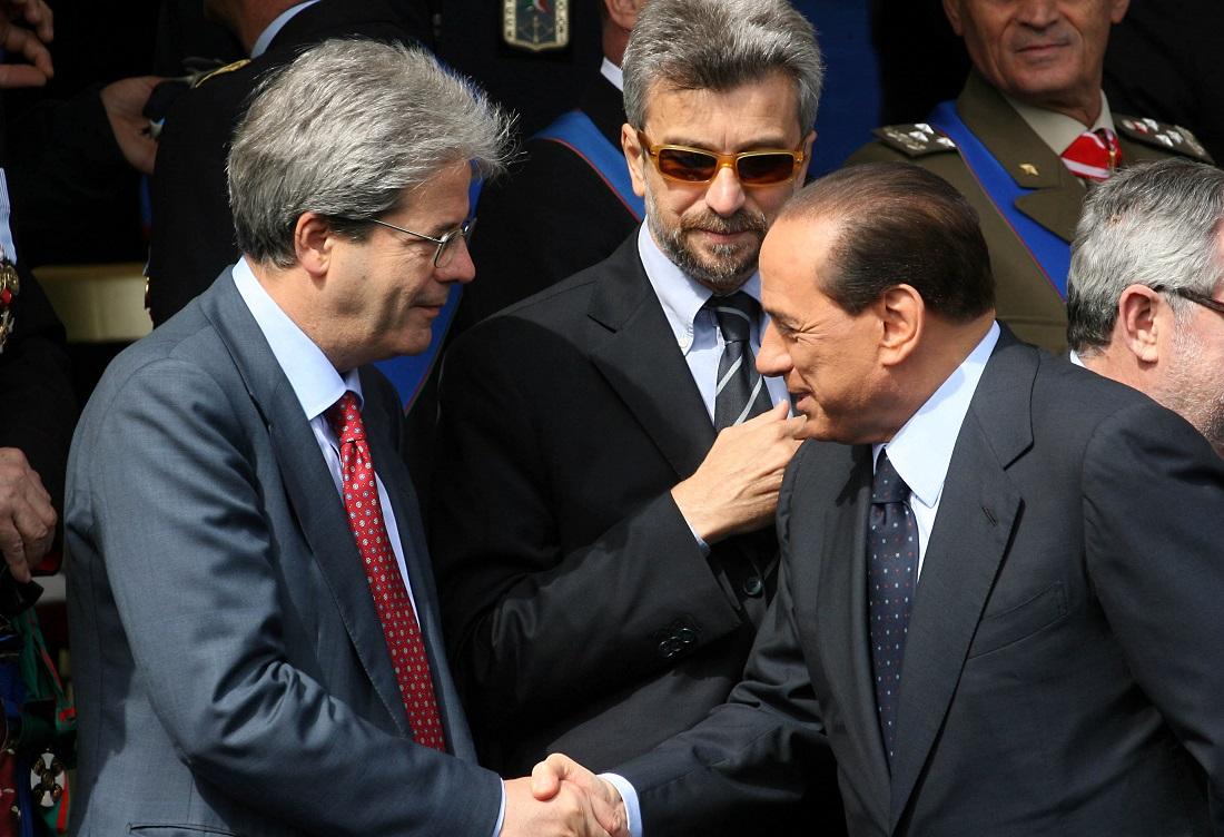 Paolo Gentiloni e Silvio Berlusconi