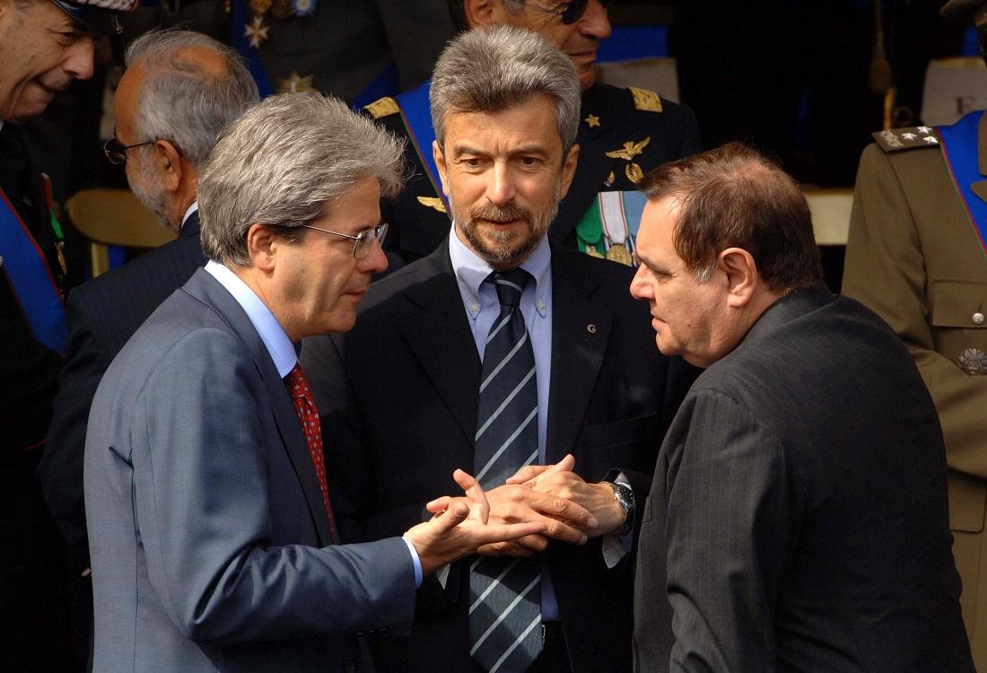 Paolo Gentiloni e Clemente Mastella