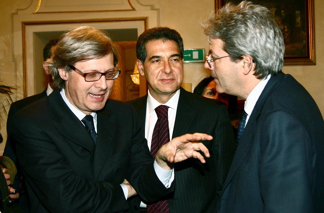 Vittorio Sgarbi e Paolo Gentiloni