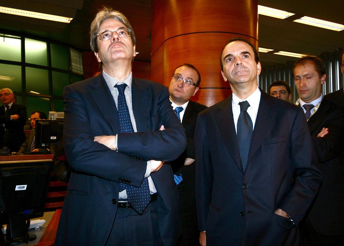 Paolo Gentiloni e Stefano Parisi