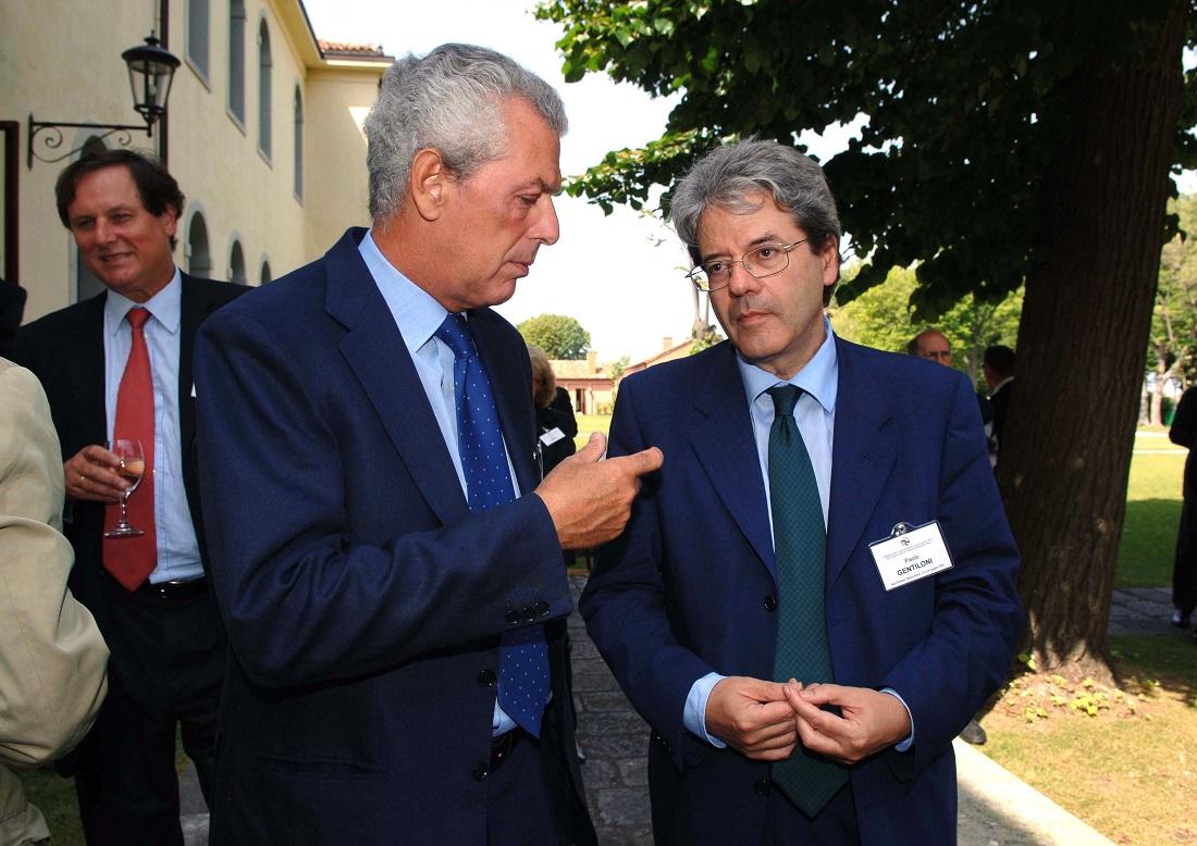 Paolo Gentiloni e Marco Tronchetti Provera