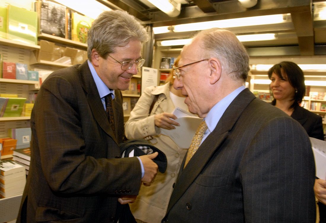 Paolo Gentiloni e Fedele Confalonieri