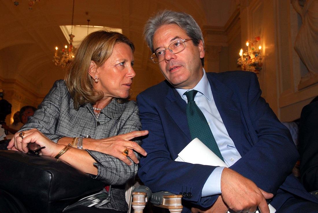 Cristina De Luca e Paolo Gentiloni