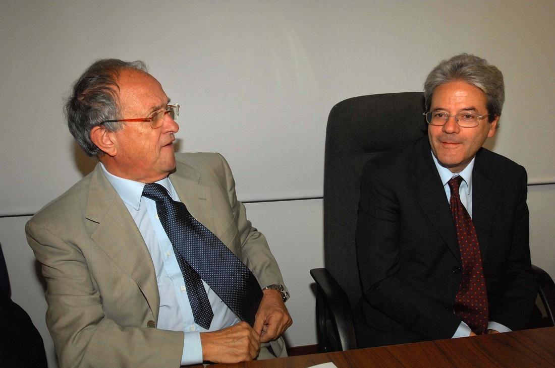 Pierfrancesco Guarguaglini e Paolo Gentiloni