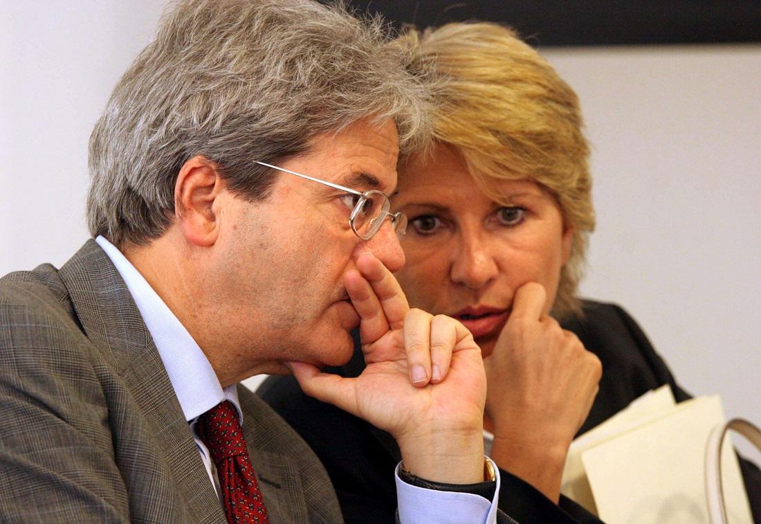 Paolo Gentiloni e Beatrice Magnolfi