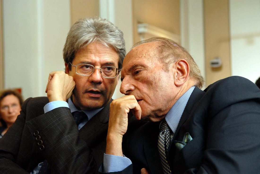 Paolo Gentiloni ed Enrico Manca