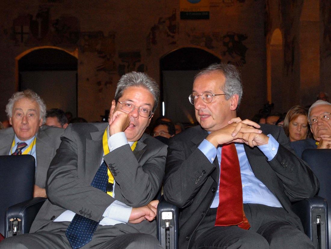 Paolo Gentiloni e Walter Veltroni