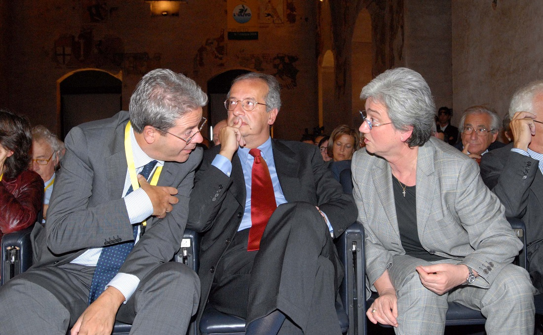 Paolo Gentiloni, Walter Veltroni e Rosy Bindi