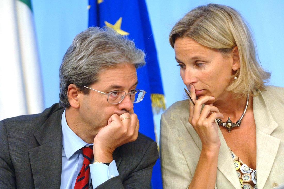 Paolo Gentiloni e Giovanna Melandri