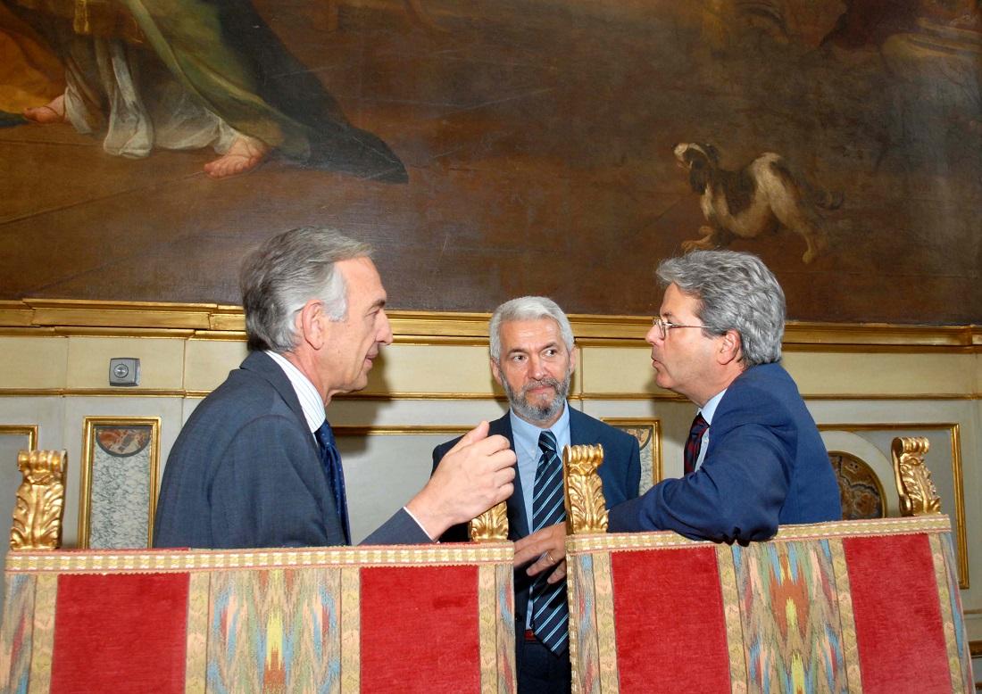 Massimo Sarmi e Paolo Gentiloni