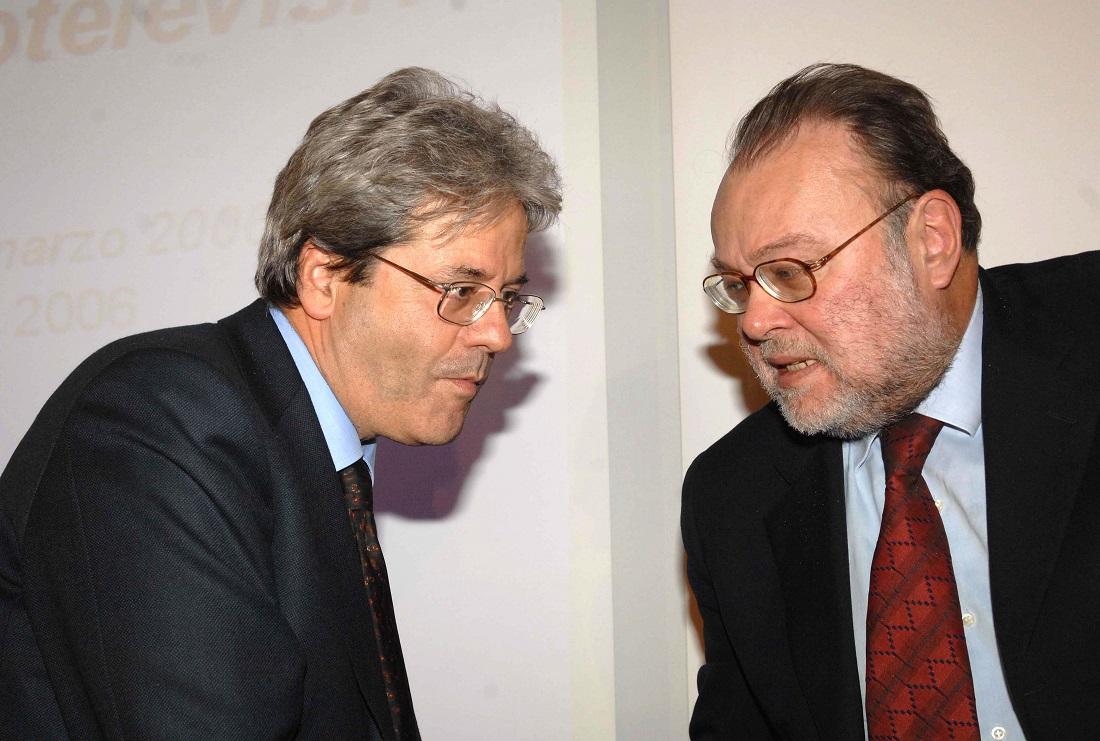 Paolo Gentiloni e Claudio Petruccioli