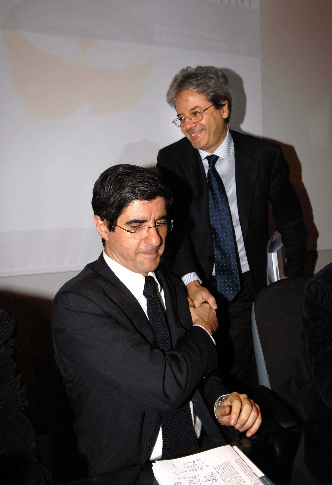 Gianni Riotta e Paolo Gentiloni