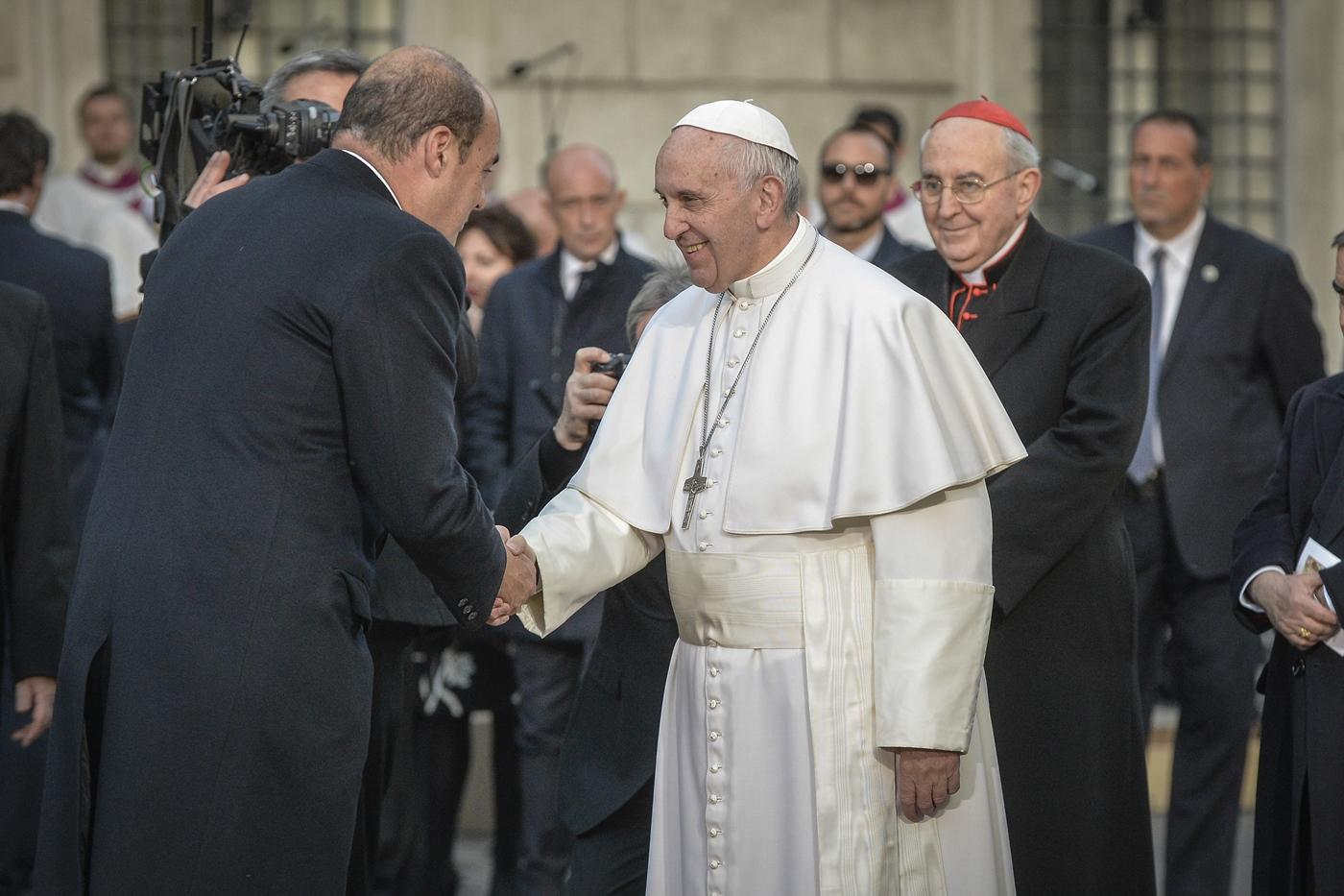 Papa Francesco e Nicola Zingaretti