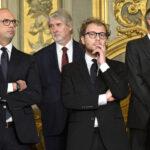 Angelino Alfano, Giuliano Poletti e Luca Lotti