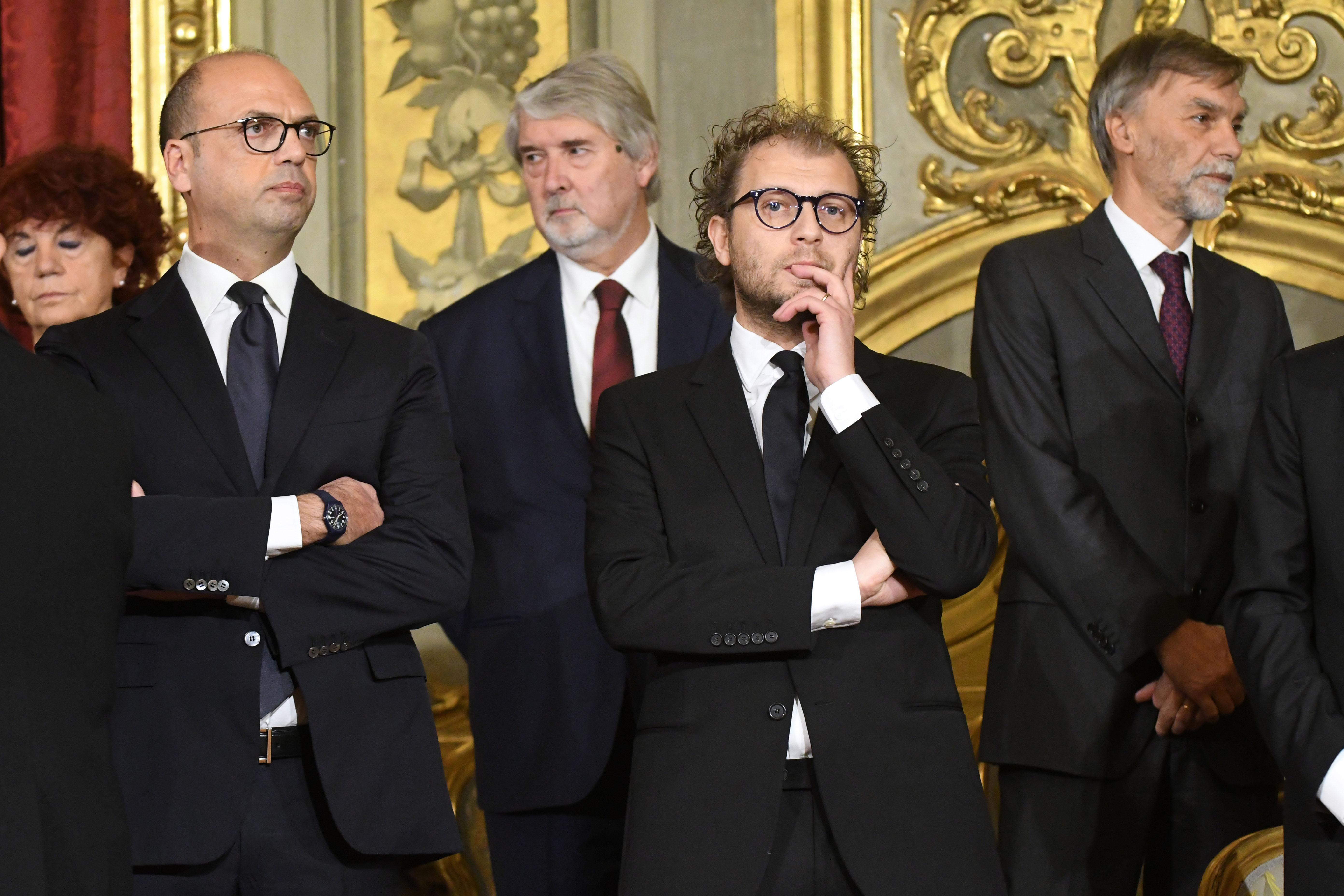 Angelino Alfano, Giuliano Poletti, Luca Lotti e Graziano Delrio