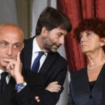 Marco Minniti, Dario Franceschini e Valeria Fedeli