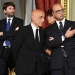 Dario Franceschini, Marco Minniti e Angelino Alfano