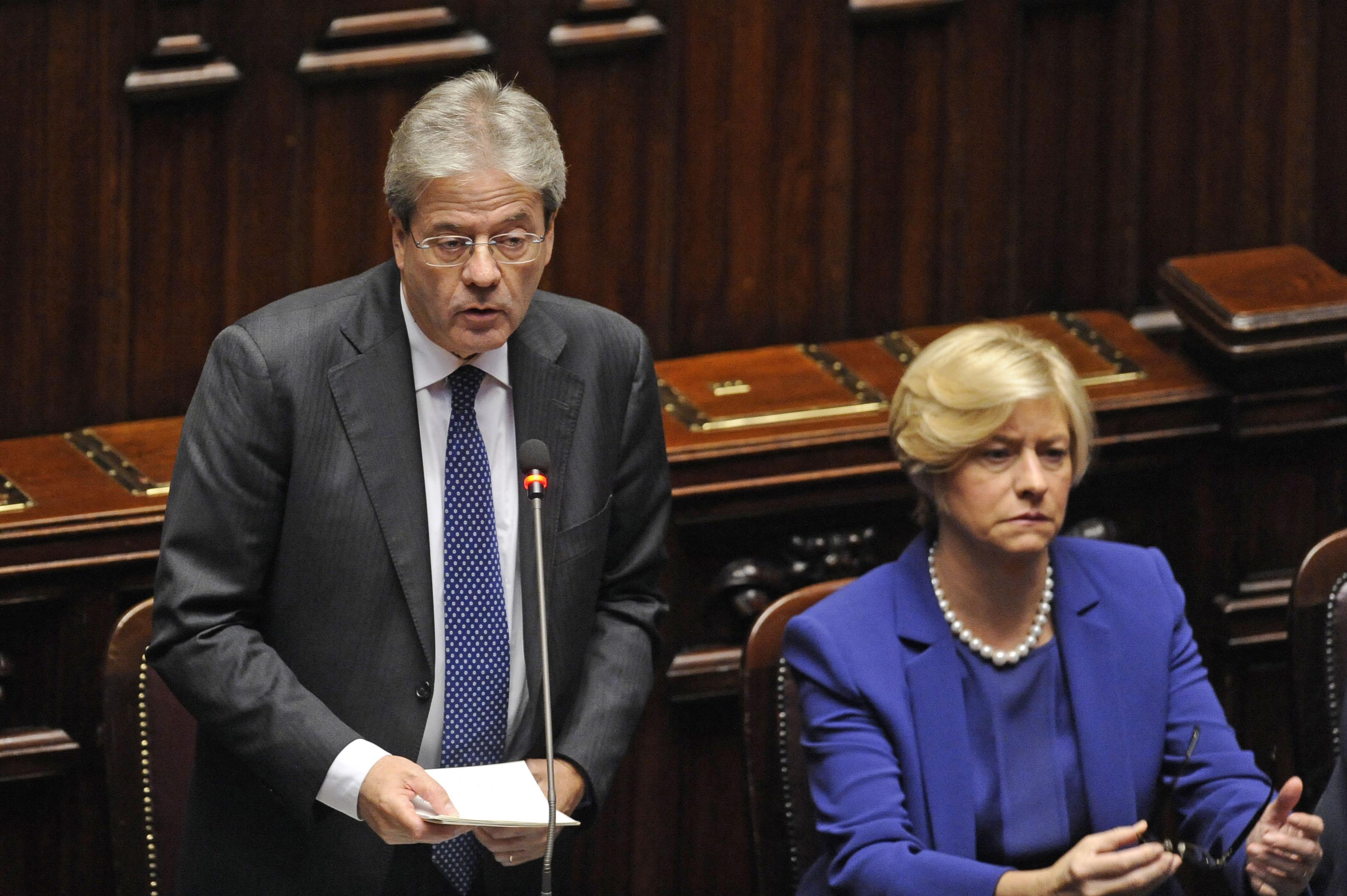 Paolo Gentiloni e Roberta Pinotti