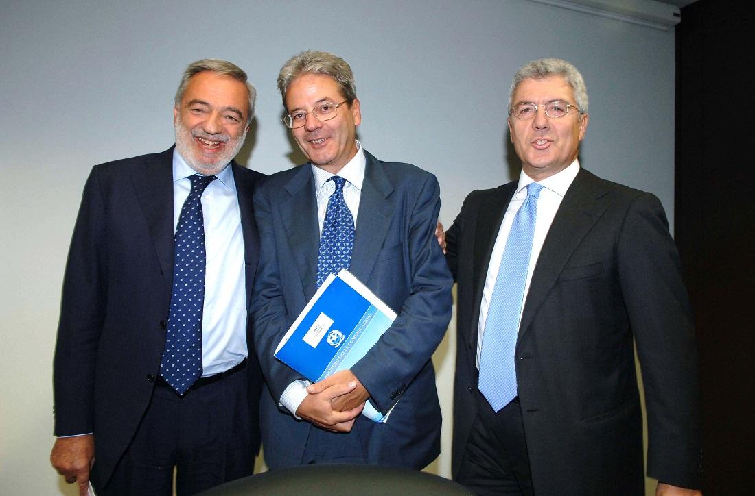 Luigi Nicolais, Paolo Gentiloni e Alfredo Cazzola
