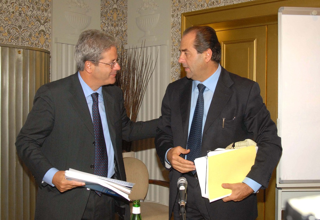 Paolo Gentiloni e Antonio Di Pietro