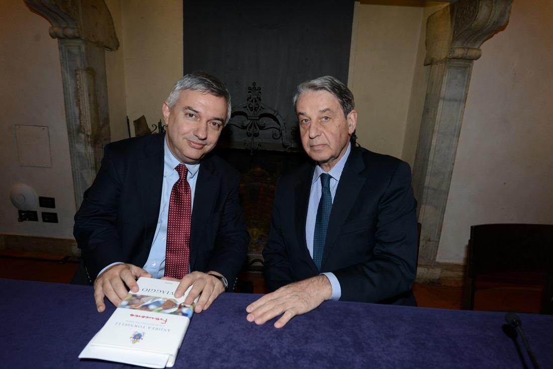 L'ambasciatore Alexander Avdeev e Maurizio Molinari