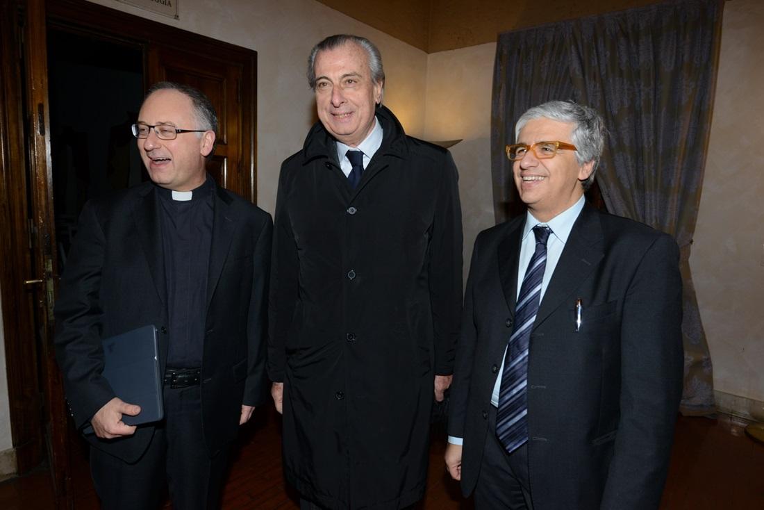 Antonio Spadaro, Alberto Gasparri e Andrea Tornielli