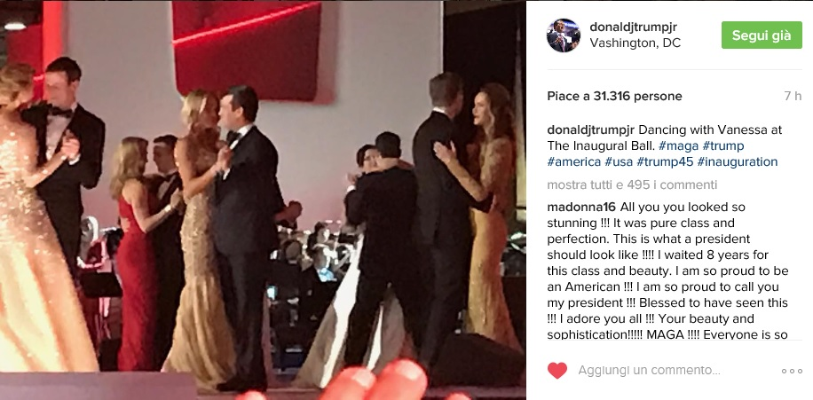 Inauguration Ball - Instagram