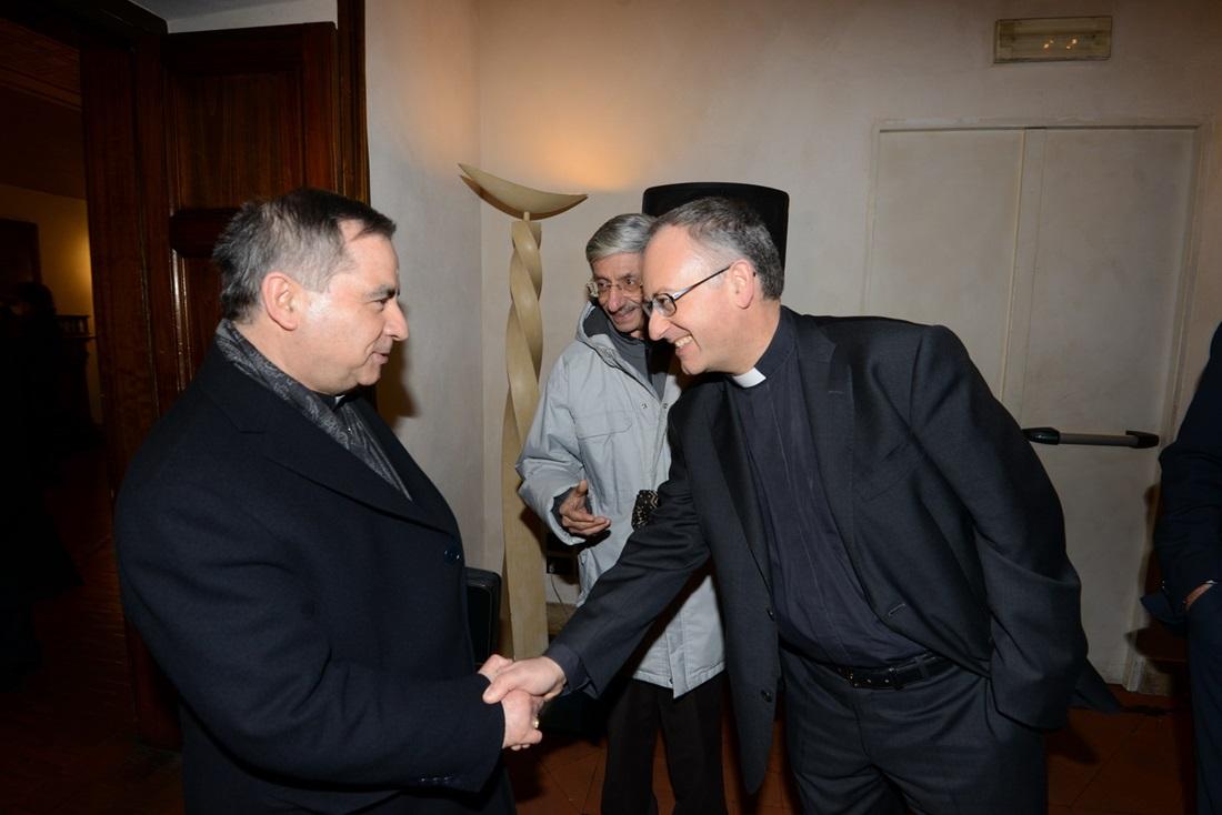 Monsignor Angelo Becciu e Antonio Spadaro