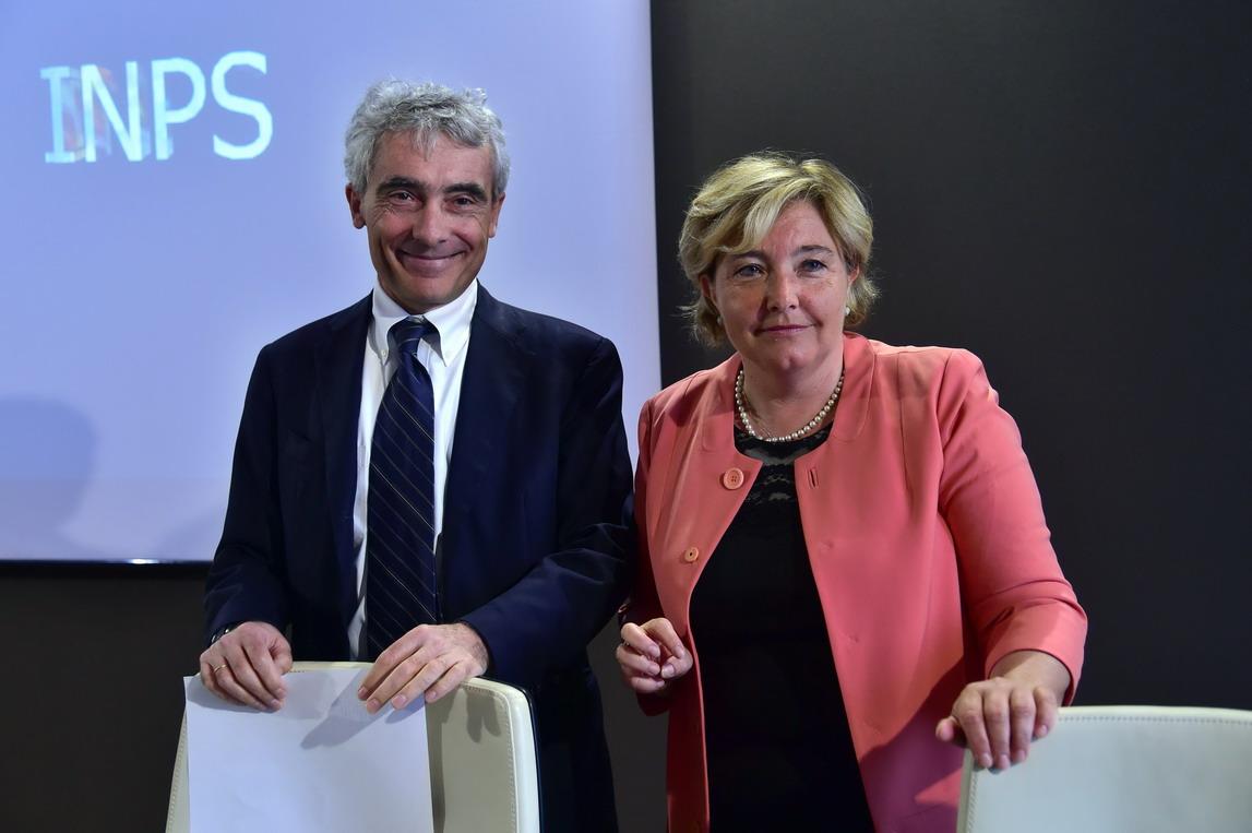 Gabriella Di Michele e Tito Boeri