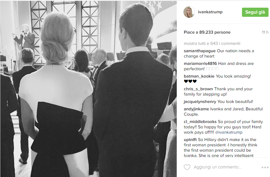 Ivanka Trump e Jared Kushner - Instagram