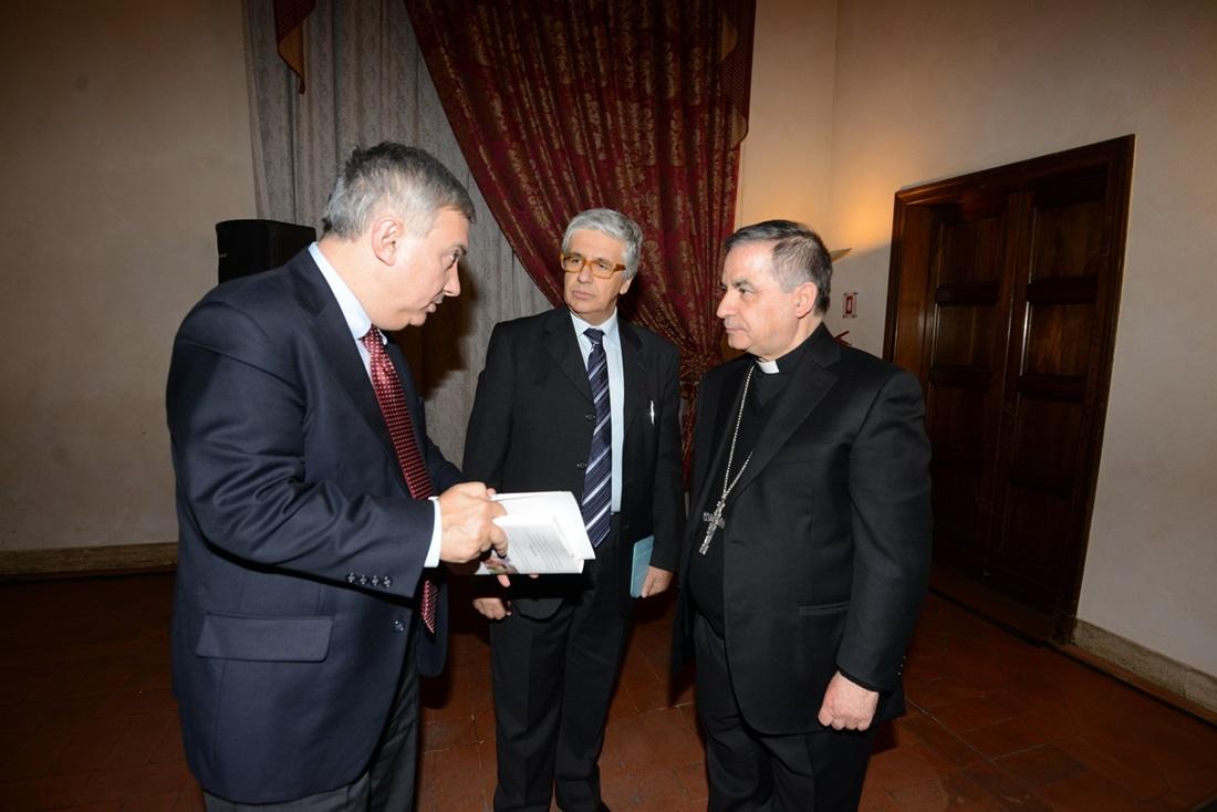 Maurizio Molinari, Andrea Tornielli e Monsignor Angelo Becciu