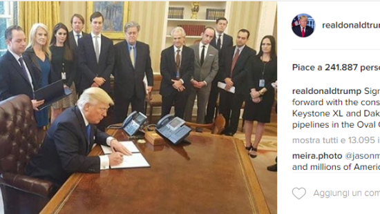 Mike Pence, Donald Trump e Jared Kushner - Instagram