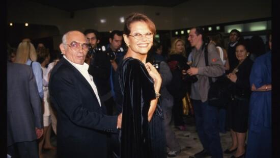 Claudia Cardinale e Pasquale Squitieri (prima di Albertazzi al Teatro Brancaccio)