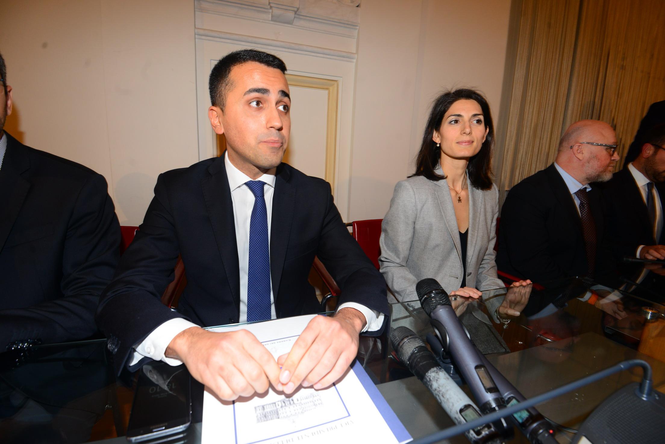 Luigi Di Maio, Virginia Raggi e Filippo Nogarin