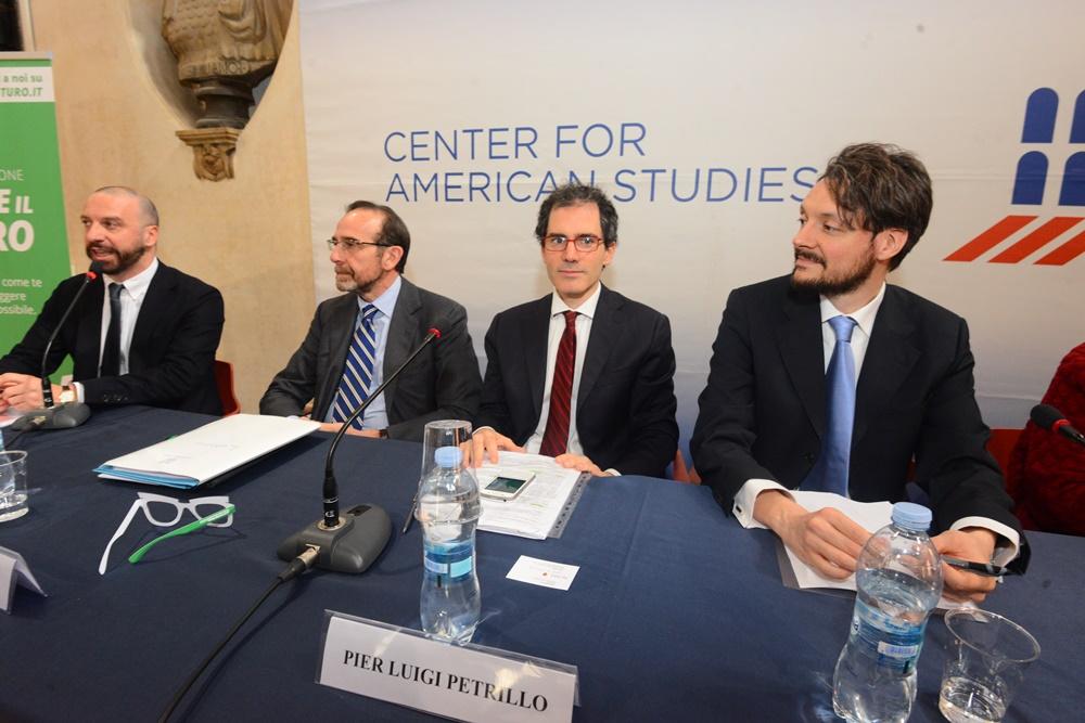 Federico Anghelè, Riccardo Nencini, Pierluigi Petrillo e Lorenzo Lipparini (convegno lobby)