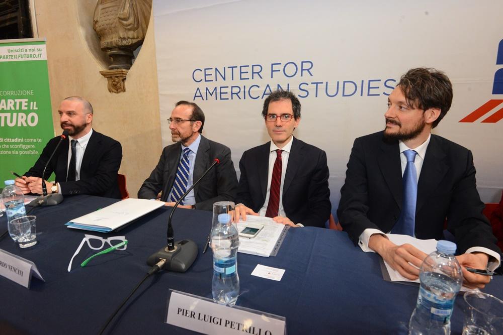 Federico Anghelè, Riccardo Nencini, Pierluigi Petrillo e Lorenzo Lipparini