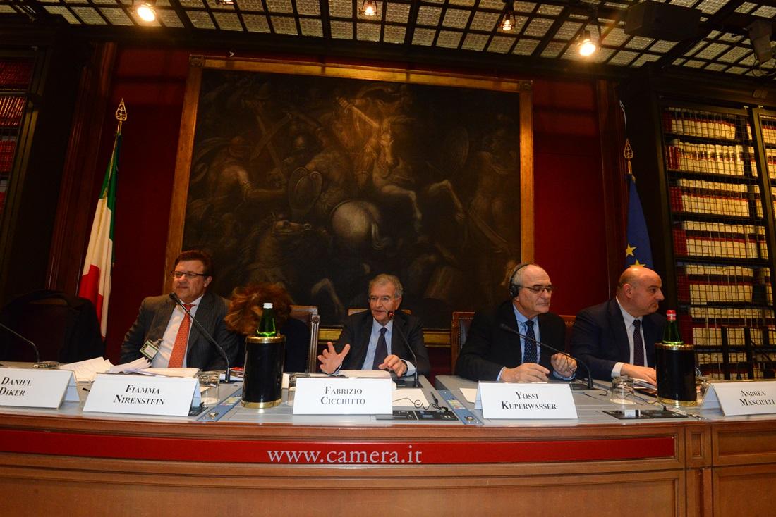 Daniel Diker, Fiamma Nirenstein, Fabrizio Cicchitto, Yossi Kuperwasser