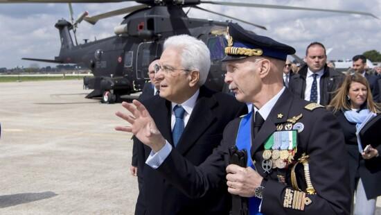 Sergio Mattarella ed Enzo Vecciarelli