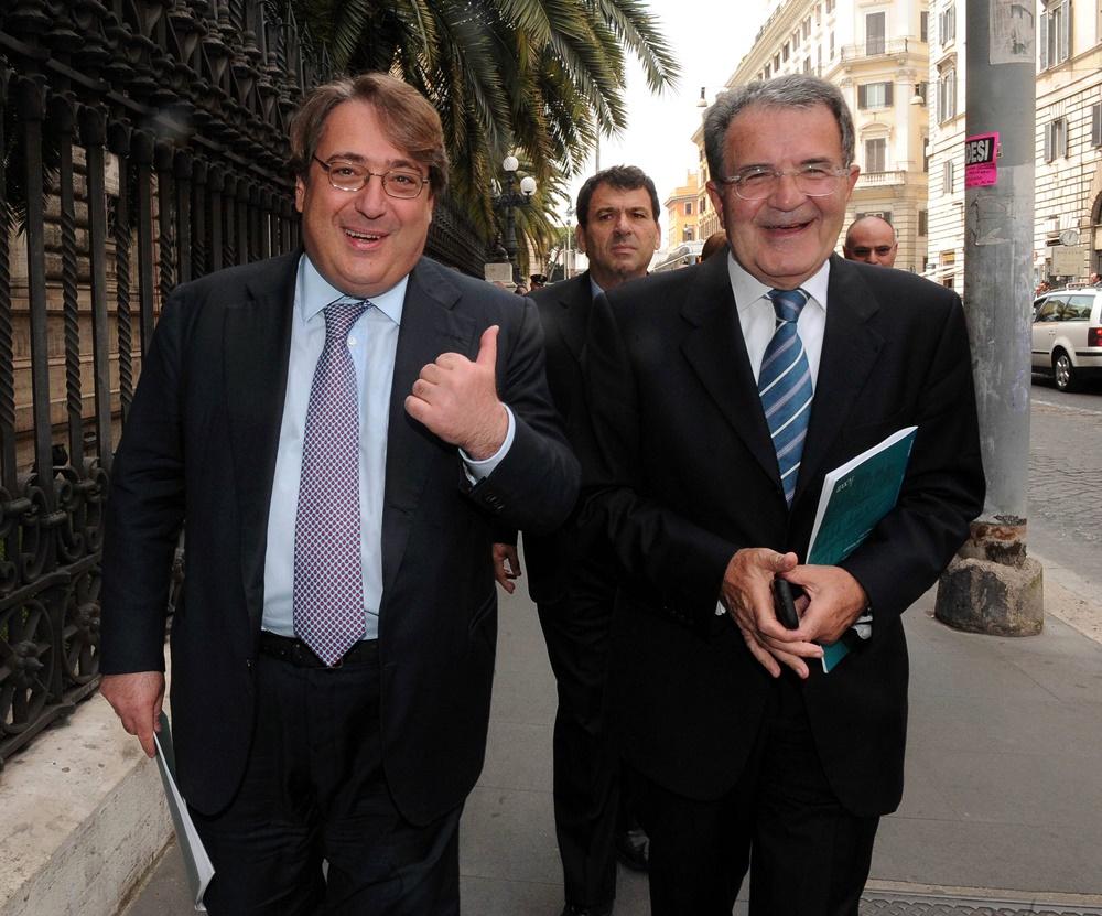Roberto Napoletano e Romano Prodi