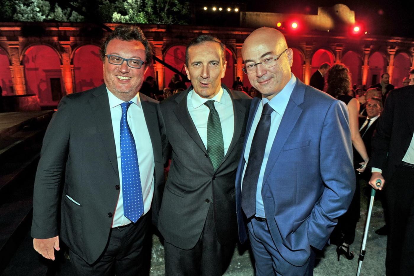 Mario Orfeo, Luigi Gubitosi e Aldo Cazzullo