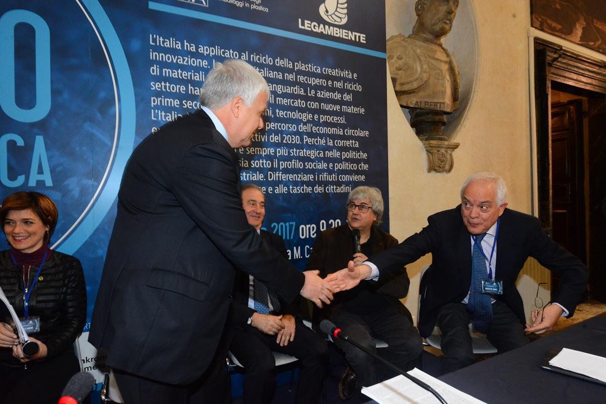 Gian Luca Galletti, Antonello Ciotti, Ermete Realacci e Roberto De Santis