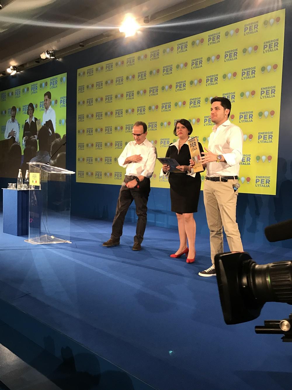 Stefano Parisi, Rosamaria Bitetti e Federico Figini