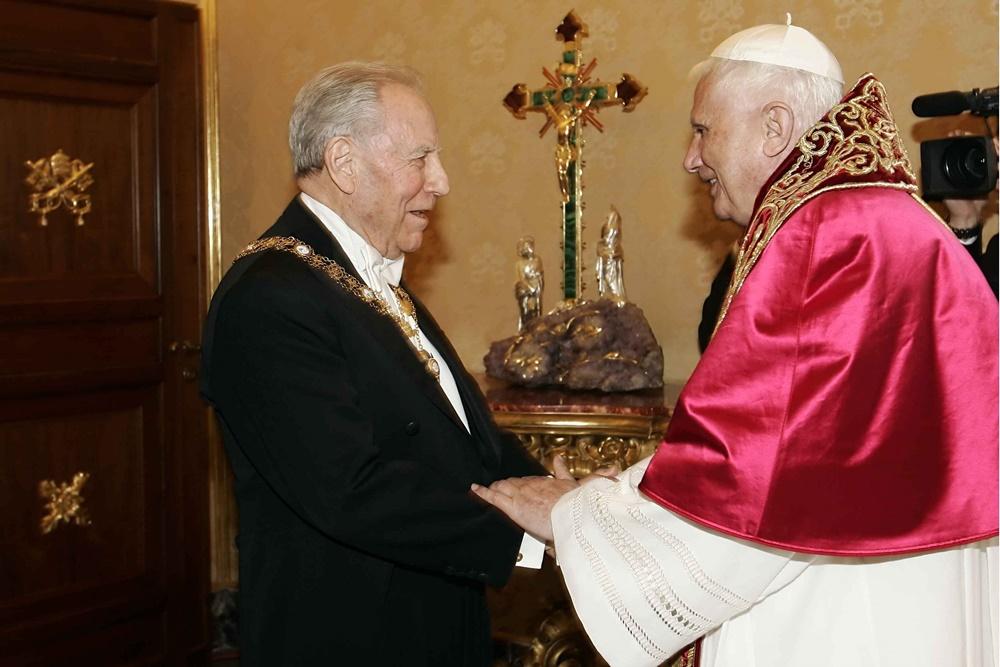 Benedetto XVI e Carlo Azeglio Ciampi (2005)