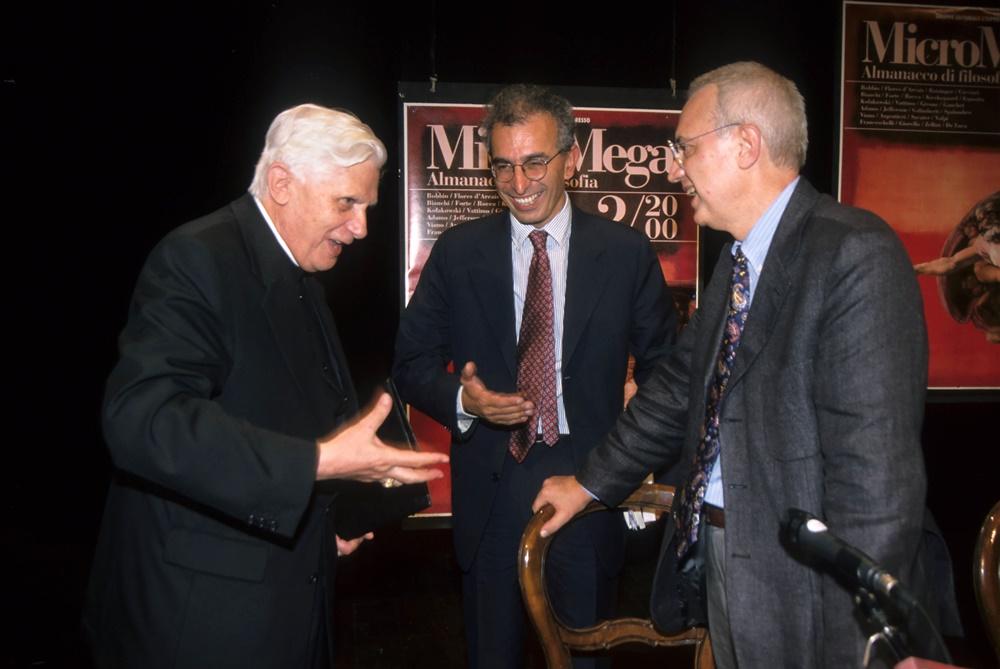 Joseph Ratzinger, Gad Lerner e Paolo Flores d'Arcais (1992)